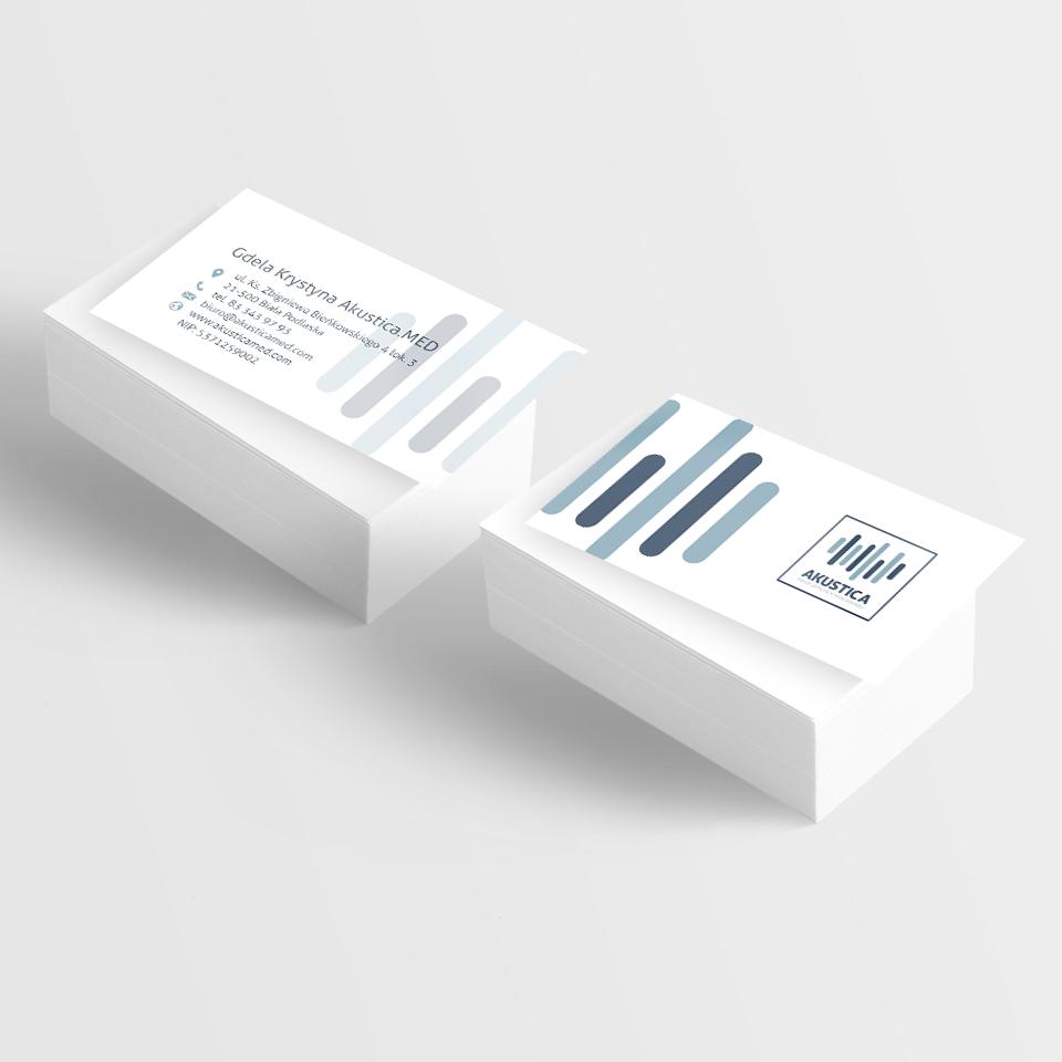 wizytówka soft touch